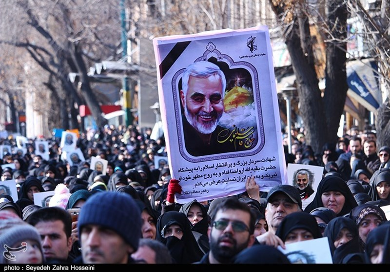 گزارش  ایران اسلامی یکپارچه عزادار سردار دلها / پاسخ محکم مردم ایران به آمریکاییها + فیلم
