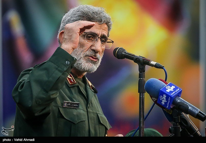 IRGC Quds Force Chief: US Navy Ship Fire Result of Washington Crimes