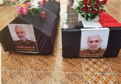 تصاویر ارسالی از تشییع شهیدان سلیمانی و ابومهندس در بغداد