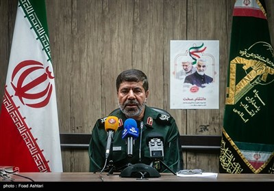 نشست خبری سردار رمضان شریف سخنگوی سپاه پاسداران انقلاب اسلامی