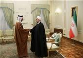 روحانی در دیدار وزیر امور خارجه قطر: کشورهای منطقه با حضورآمریکا روی آرامش را نخواهند دید