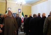 مشارکت هیئتی از حماس در مراسم ختم شهید سلیمانی در بیروت