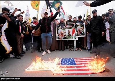 تشییع پیکر شهدای حمله تروریستی امریکا در کربلای معلی