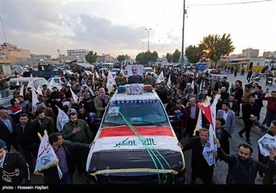 عراق میں قاسم سلیمانی اور شہید ابو مہدی مہندس کا تشییع جنازہ کی تصویری جھلکیاں