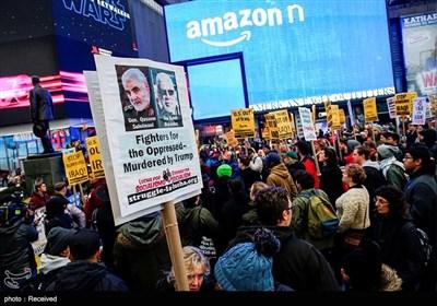 تظاهرات مردم آمریکا علیه سیاست های جنگ طلبانه ترامپ