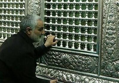 آخرین زیارت سردار شهید قاسم سلیمانی در حرم مطهر رضوی