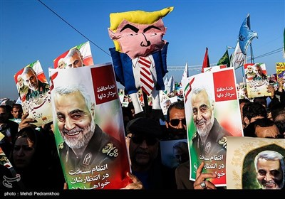 Mass Rally Held in Ahvaz in Commemoration of Gen. Soleimani