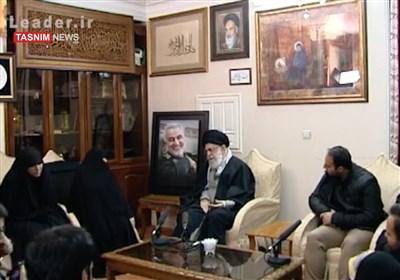فرمایشات رهبر معظم انقلاب در منزل شهید سپهبد قاسم سلیمانی