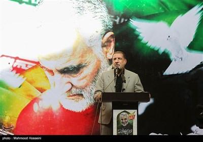 سخنرانی سردار اسماعیل کوثری در مراسم میثاق جامعه ورزش با سپهبد شهید قاسم سلیمانی در وزارت ورزش و جوانان