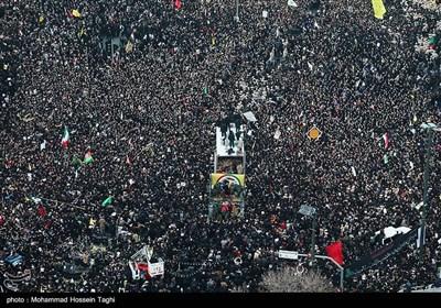 مراسم تشییع جثمان الشهید سلیمانی فی مدینة مشهد المقدسة