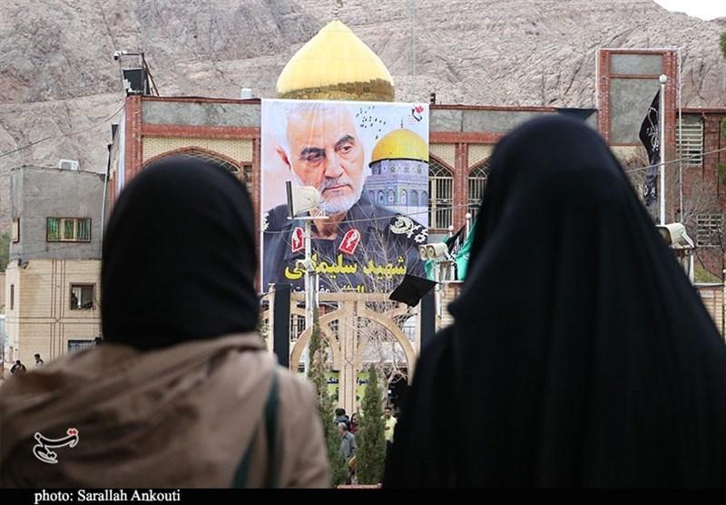 حال و هوای گلزار شهدای کرمان قبل از حضور سردار از دریچه دوربین