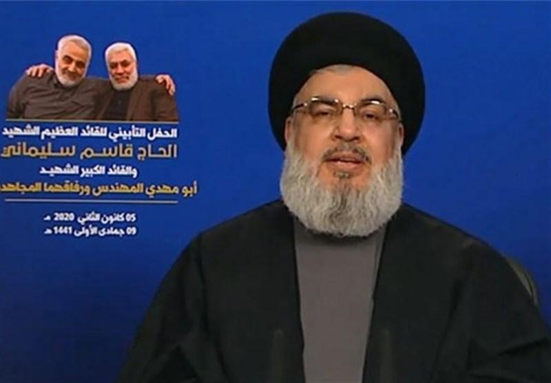 سیدحسن نصرالله: ارزش کفش سردار سلیمانی از سر ترامپ بیشتر است/هدف ما در مقاومت پاسخ به ریخته شدن خون سردار است