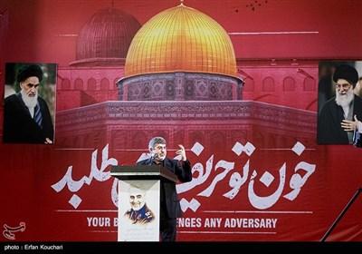 مداحی محمدرضا طاهری در اجتماع عظیم عزاداران شهید سپهبد حاج قاسم سلیمانی در مصلی تهران