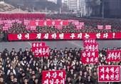 راهپیمایی بزرگ کره شمالی در بحبوحه تنش با آمریکا+عکس