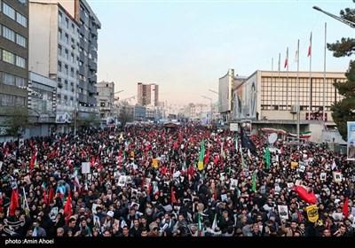 حشود ملیونیة تشارک فی مراسم تشییع الشهید سلیمانی فی طهران