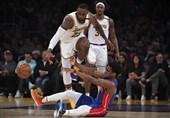 لیگ NBA| پیروزی تیمهای شهر لسآنجلس در استیپلز سنتر/ نودمین تریپل دابل جیمز در جشنواره دفاع لیکرز
