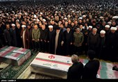 """گزارش تسنیم از تشییع انقلابی و خونخواهانه پیکر """"حاج قاسم"""" و یارانش"""