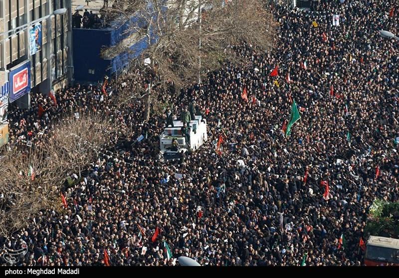 بازتاب مراسم وداع با پیکر شهید سلیمانی در رسانههای عربی؛ «تشییع میلیونی و تاریخی»