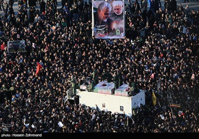 تشییع پیکر سپهبد قاسم سلیمانی و شهدای مقاومت در تهران - 1