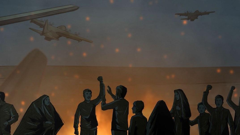واکنش هنرمندانه جوانان اهوازی به سیلی سپاه پاسداران + فیلم