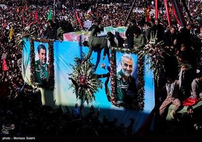 تشییع پیکر سپهبد سلیمانی و سرتیپ پورجعفری در کرمان