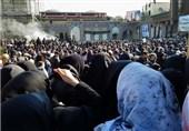 پیکر شهید مقاومت به حرم حضرت عبدالعظیم حسنی(ع) رسید+ تصاویر