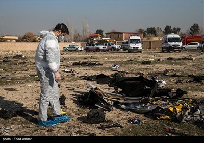 Rescue Teams Work amid Debris after Ukrainian Plane Crashed Near Tehran
