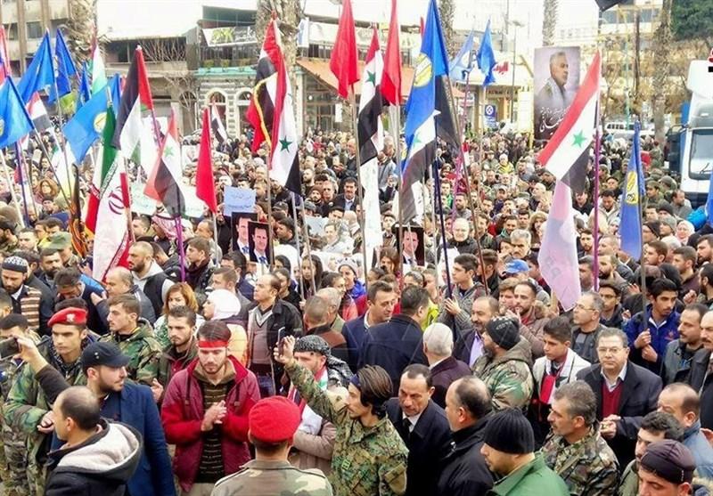 Hundreds Commemorate Iranian Top Gen. Soleimani in Syria's Homs (+Photos)