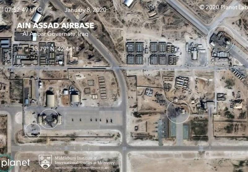 تصاویری از پایگاه عین الاسد پس از حمله موشکی سپاه