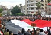 تجمع مردمی در لاذقیه سوریه در محکومیت ترور شهید سلیمانی + تصاویر