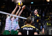 والیبال انتخابی المپیک  جدال فرانسه و آلمان برای سهمیه المپیک + عکس
