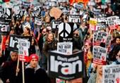 تظاهرات انگلیسیها علیه سیاستهای جنگطلبانه ترامپ