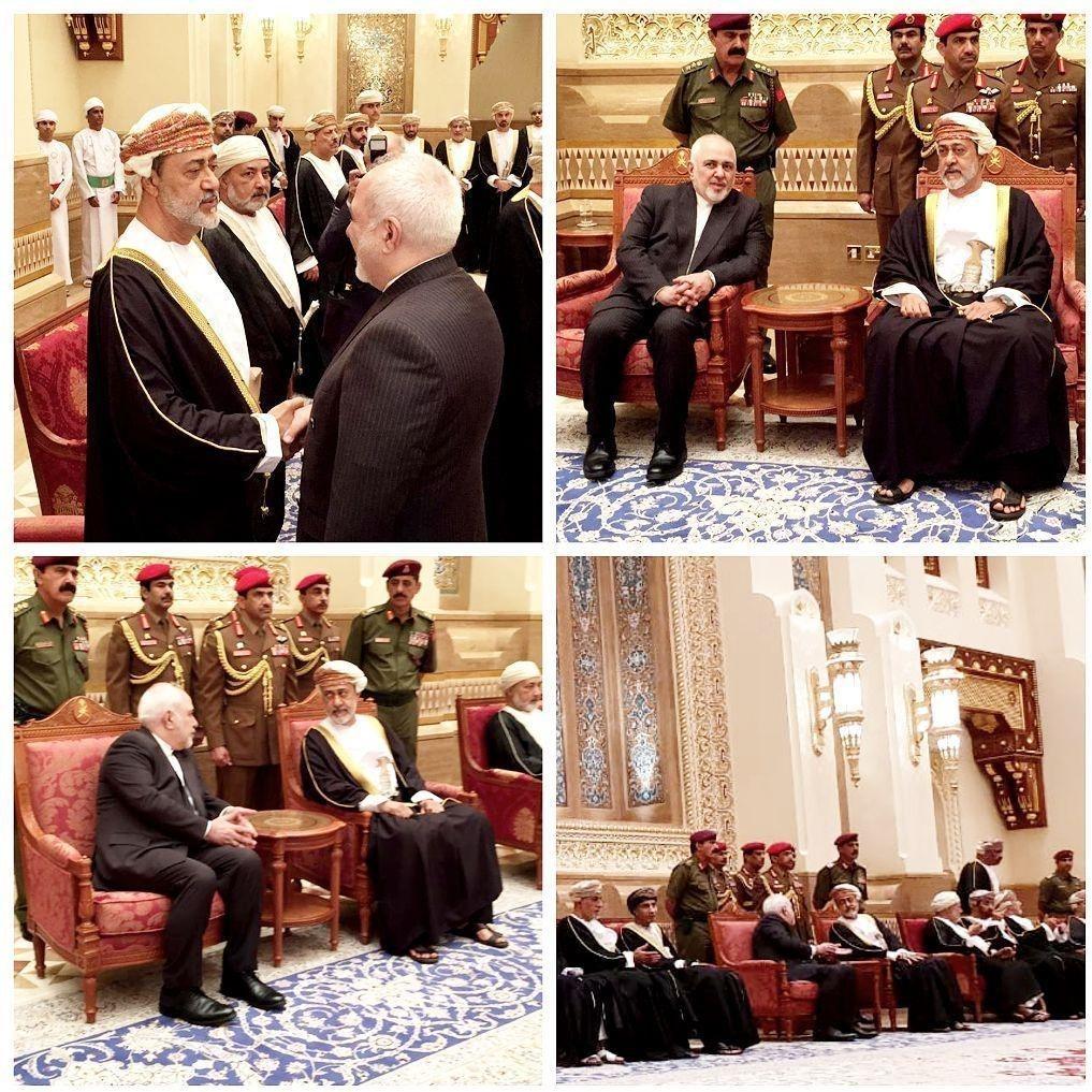 وزیر خارجه ایران که به منظور شرکت در مراسم ترحیم سلطان قابوس به عمان سفر کرده است با پادشاه جدید این کشور دیدار و گفتگو کرد.