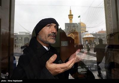 بارش برف در حرم مطهر امام رضا (ع) - مشهد