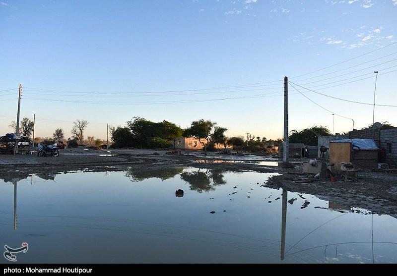 خسارات سیل در مناطق سیل زده سیستان و بلوچستان