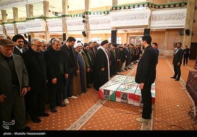 مراسم تشییع پیکر 3 شهید سانحه هوایی در گرگان