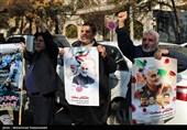 تجمع 10 تشکل جانباز و ایثارگر در اعتراض به جنایات آمریکا+عکس