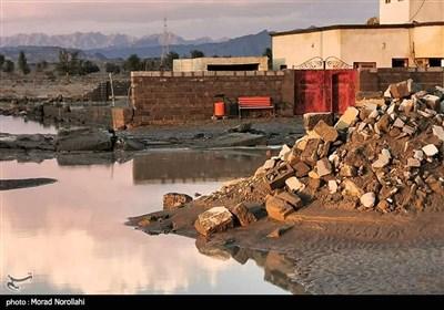 خسارات سیل در روستای سدیچ جاسک