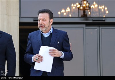 محمود واعظی رئیس دفتر رئیس جمهور در حاشیه جلسه هیئت دولت