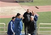 بازدید سهیل مهدی از ورزشگاه نقش جهان اصفهان