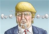 واکنش جالب 2 گرافیست به اظهارات بی شرمانه ترامپ؛ «بروید تا زنده بمانید»+عکس