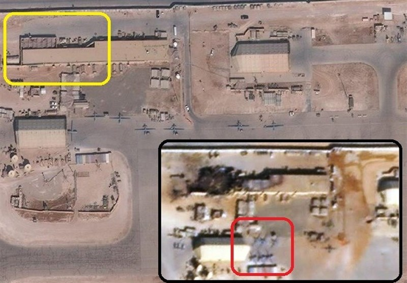 گزارش تسنیم از خسارات سنگین به مرکز پهپادی آمریکا در حمله موشکی سپاه/ موشکهایی که «چشم شیطان» را کور کرد