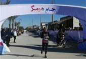 قهرمانی پریسا عرب در دوی نیمه ماراتن جام هرمز