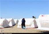هرمزگان| اسکان موقت روستاییان بخش لیردف جاسک در کمپ های هلال احمر+تصویر