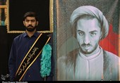 پیکر همسر شهید نواب صفوی در حرم رضوی آرام گرفت