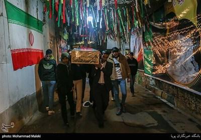 تشییع پیکر شهید گمنام در یادواره شهدای عملیات کربلای 5 و بزرگداشت سپهبد شهید قاسم سلیمانی