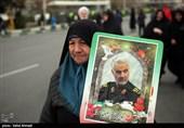 راهپیمایی مردم خراسان شمالی در پاسداشت شهدای هواپیمای اوکراینی و دفاع از سپاه پاسداران برگزار شد