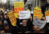 گزارش کامل تسنیم از راهپیمایی مردم در دفاع از اقتدار و صلابت ایران اسلامی + فیلم