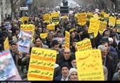 خروش مردم دارالجهاد همدان در حمایت از اقتدار کشور+تصاویر