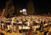 شرکت هزاران فلسطینی در پویش «فجرعظیم» در مسجدالاقصی و مساجد دیگر